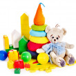 Children toys with teddy bear and ball. — Stock Photo #13783751