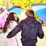 Couple on date autumn outdoor. — Stock Photo #13783938