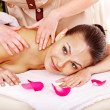Woman getting massage in spa. — Stock Photo #13784015