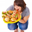 Girl weight loss on scales. — Stock Photo #13972220