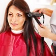 Stock Photo: Woman at hairdresser.