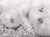 Christmas ball in snow. — Stock Photo