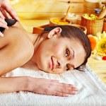Woman getting massage . — Stock Photo #14159788