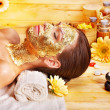 Woman getting facial mask . — Stock Photo #14159806