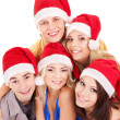 Group young in santa hat . — Stock Photo #14160020
