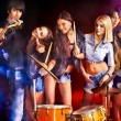 Stock Photo: Band playing musical instrument.