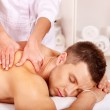 Man getting massage in spa. — Stock Photo #14160546