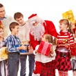 Group of children with Santa Claus. -  