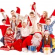 Group of children with Santa Claus. — Photo