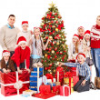 Group of children with Santa Claus. — Stock Photo