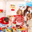 Child painting at art school. — Stock Photo #14919033