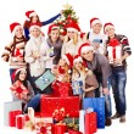 Group and Santa. — Stock Photo #14921925