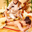 Royalty-Free Stock Photo: Woman getting bamboo massage.