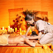 Woman getting  massage . - Foto Stock