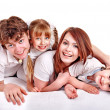 Happy family with children. — Stock Photo