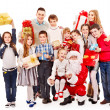 Royalty-Free Stock Photo: Group of children with Santa Claus.