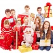 Group of children with Santa Claus. — Stock Photo #16050377