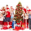 Group of children with Santa Claus. - Stock Photo