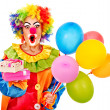 Portrait of clown. — Stock Photo