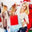 Shopping women at Christmas sales. — Stock Photo #16052689