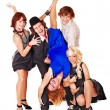 Dancing group - Stock Photo