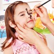 Child preschooler with face painting. — Stock Photo #16054297