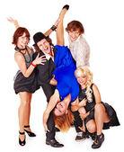Dancing group — Zdjęcie stockowe