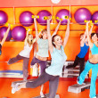 Women in aerobics class. — Photo