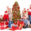 Group of children with Santa Claus. — Stock Photo #16506609
