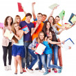 Group student with notebook. - Stock Photo