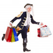Man with shopping bag. — Stock Photo