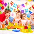 Child birthday party . - 图库照片