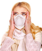 Young woman in medical mask. — Стоковое фото