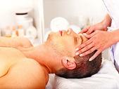 Man getting facial massage . — Stock Photo