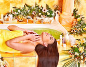 Woman at luxury spa. — Stock Photo
