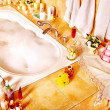 Bathroom interior with bubble bath. - Foto Stock