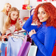 Shopping women at Christmas sales. — Stock Photo #19217087