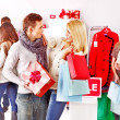 Shopping women at Christmas sales. — Stock Photo #19217093