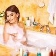 Woman relaxing at bubble bath. — Stock Photo #19217709