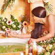 Woman at luxury spa. — 图库照片