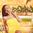 Stock Photo: Woman at luxury spa.