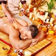 Stock Photo: Woman getting bamboo massage.