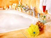 Badezimmer interieur mit sprudelbad. — Stockfoto