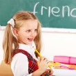 Stock Photo: Child in classroom.