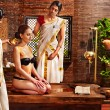 Stock Photo: Woman having Ayurvedic spa treatment.