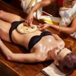 Woman having Ayurvedic spa treatment. — Stock Photo #19997741