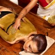 Woman having Ayurvedic body  spa massage. - Foto Stock