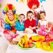 Stock Photo: Child birthday party .