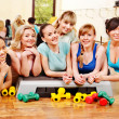 Women in aerobics class. — Stock Photo #19998167