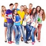 Gruppe Schüler mit notebook — Stockfoto